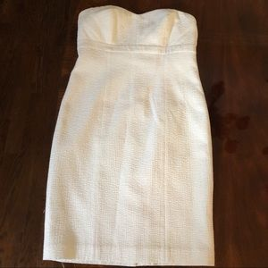 Ann Taylor Strapless White Cocktail Dress
